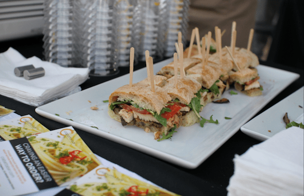 Dine on tasty treats like these sandwiches served by Ciabatta Bar at Sunset & Dine.