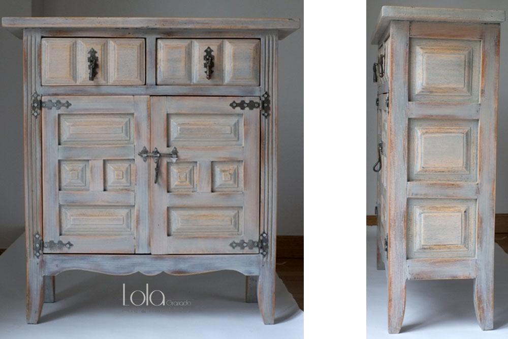 Muebles restaurados lola granado - Pintar muebles lacados en blanco ...