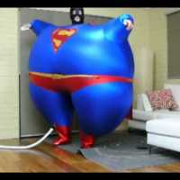 Superman Body Inflation Costume