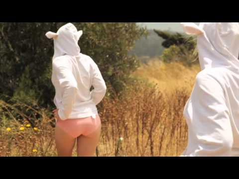 Cute Chicks Dressed As Sheep Dancing In A Field - WTF