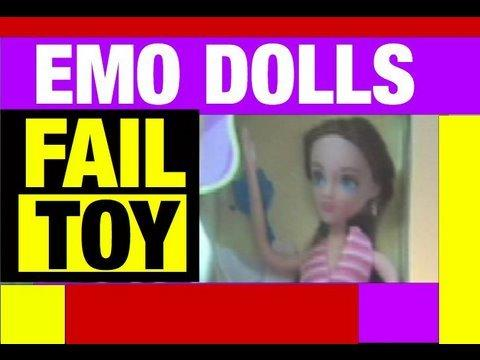 Emo Girl Dolls Funny Video Fail Toys Review Video by Funny Mike Mozart