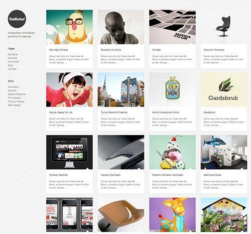 Gridlocked - Tema Worpress portfolio minimalista