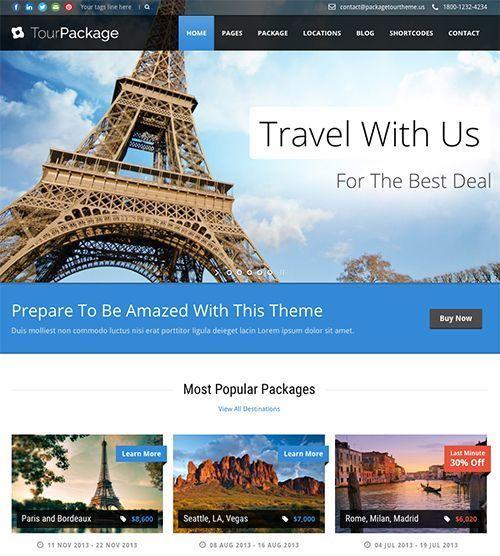 Tour Package - Tema WordPress para Agencias de Viaje