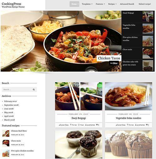 CookingPress - Plantilla WordPress restaurantes