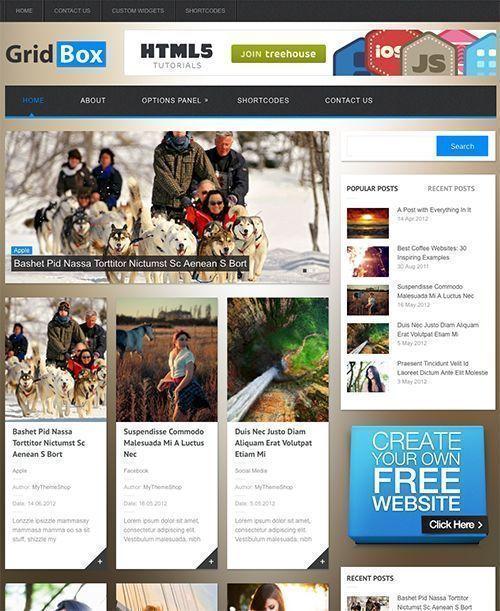 Gridbox - Tema WordPress Revista