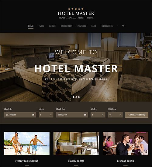 Hotel Master - Plantilla WordPress