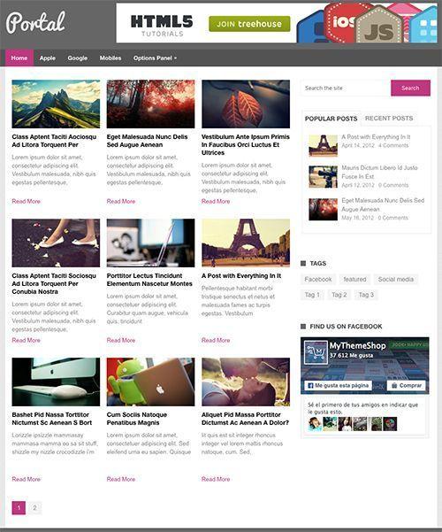 Portal Magazine -Tema WordPress para periódicos y revistas