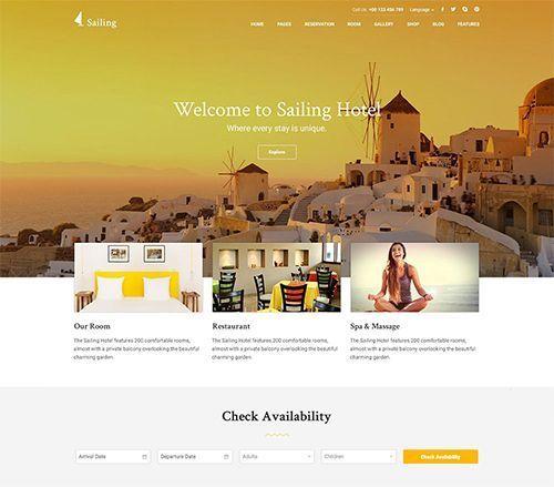 Sailing - Tema WordPress para hoteles