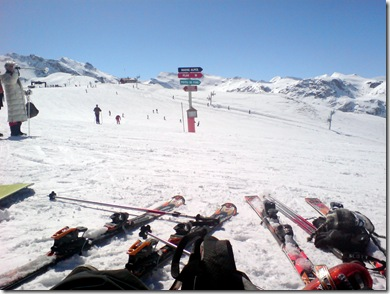 Picture of skiing in Tignes, France