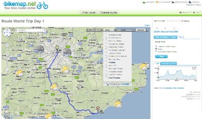 Bikemap.net  list of bike routes in london