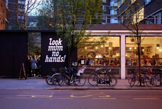 Look mum no hands bike shop and cafe