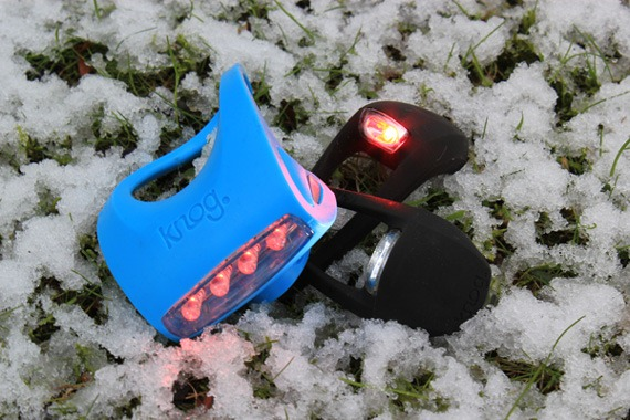 Knog lights in the snow