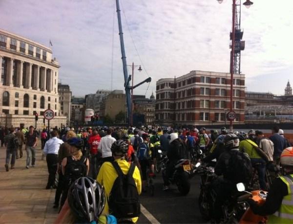 Blackfriars bridge protest
