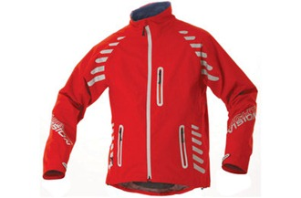 Red version of the Altura waterproof cycling jacket