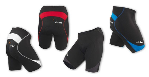 DHB Aeron Race cycling shorts in different views