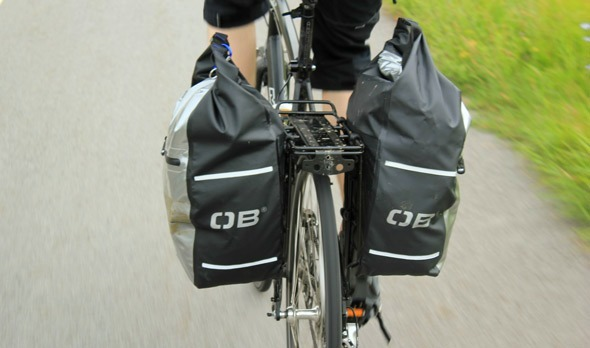 Overboard panniers on bike