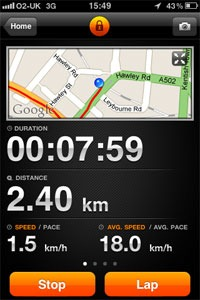 Sports tracker iPhone screenshot 1