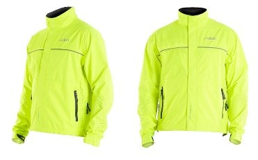 Product shot of the DHB Signal jacket showing the fluorescent version