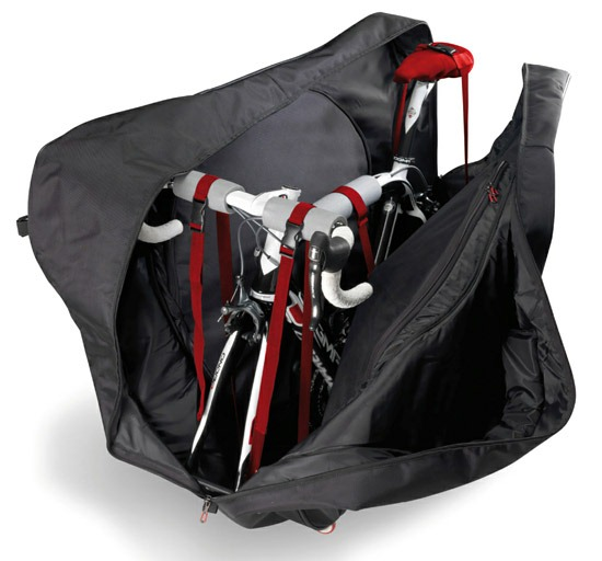 Safely storing your bike inside the AeroComfort by Scicon