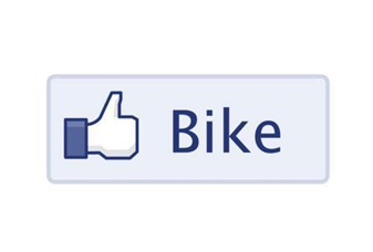 Instead of a Facebook like button there's a bike
