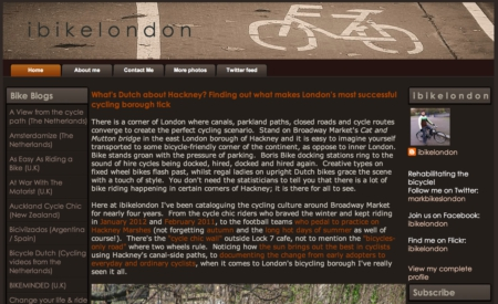 I Bike London Blog Screenshot