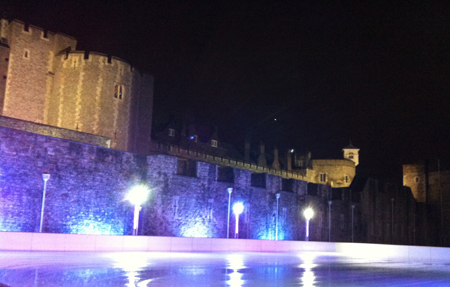 Tower of London Ice Skating Winter Date Idea
