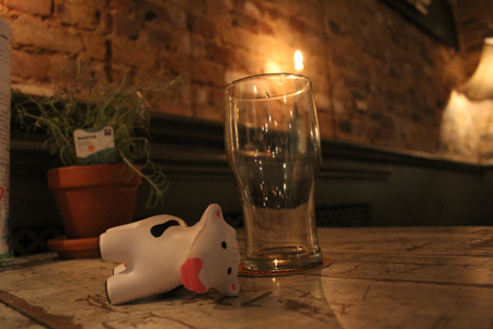 The LDG cow is done with drink