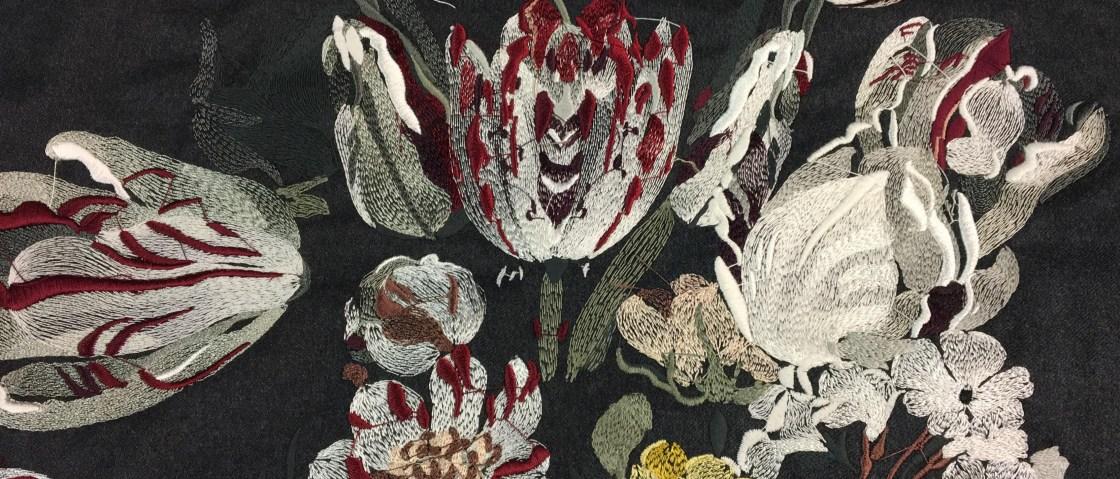 morpho luna flowers embroidery stitch