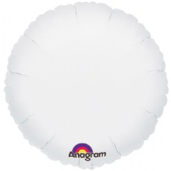 helium filled white foil balloon