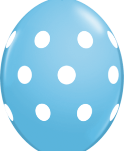 10 Robins Egg Blue Big Polka Dots  helium filled linking balloons