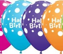 "10 Birthday Big Polka Dots  Helium Filled 11""latex Party Party Balloons"