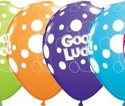 "10 Good Luck Dots Helium Filled 11""latex Party Party Balloons"