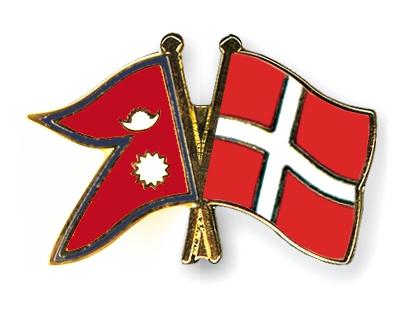nepal and denmark flag
