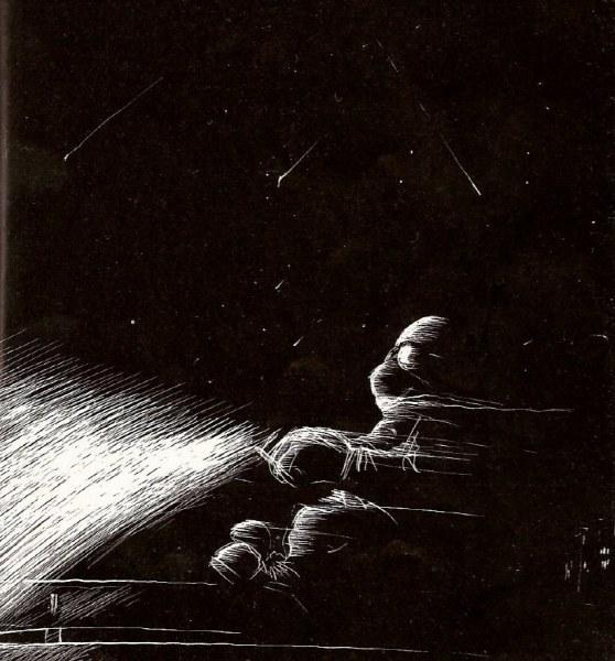 Illustrazione di Lorenzo Terranera del libro Guzzi Ergo Sum