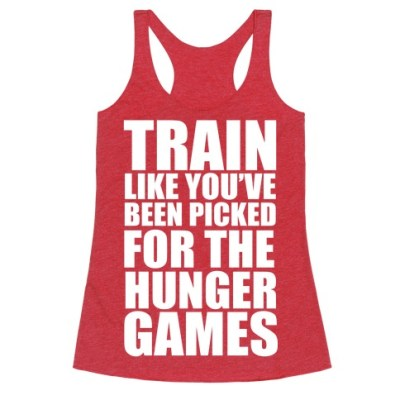 funny workout tank - Hunger Games