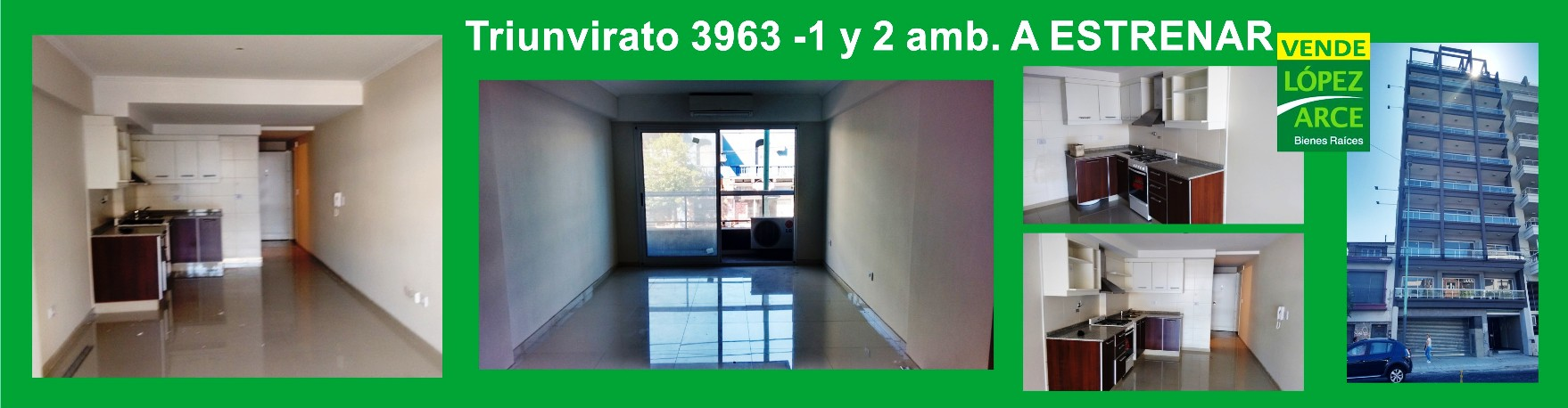 Triunvirato 3963. A Estrenar 1 y 2 amb.