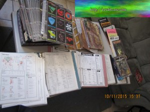 Binders of mech record sheets BattleTech