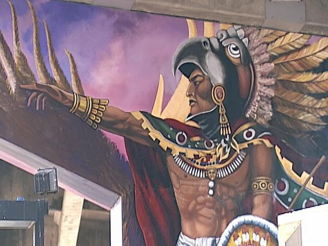 Happy dia de los muertos los angeles mystery for Chicano mural art