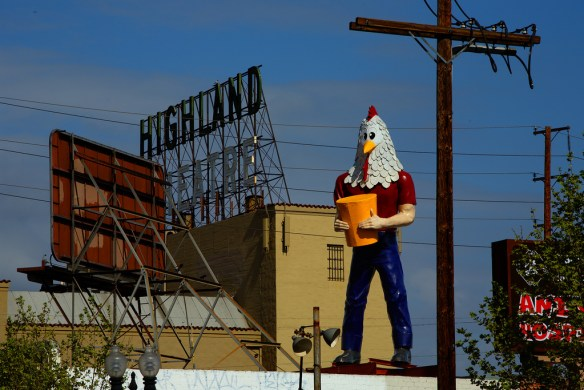 Chicken boy is the emblem of the latest hipster transplants in Highland Park!