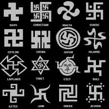 "Swastikas appear across cultures. In East Asia, they are a symbol of goodness but in the West they have become a symbol of racial purity. My guess is that both aspects are referenced in the lyric ""visions of swastikas in my head."""