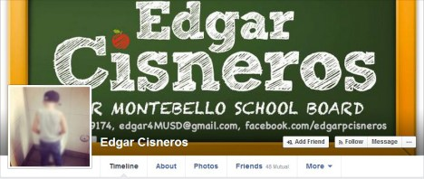 Image of Cisneros' page before it was taken down. Photo Courtesy of Edgar Cisneros Facebook Page.