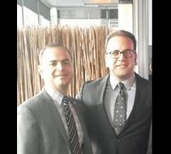 Glendale Mayor Zareh Sinanyan with Montebello Mayor Jack Hadjinian