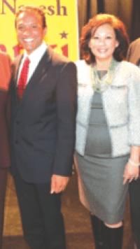 Naresh Solanki with Carol Chen