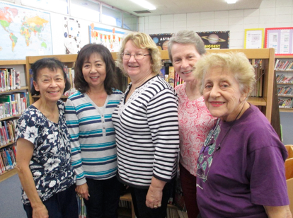 Our volunteers included Candy Yee, Elayne Shiohama, Joan Pylman, Sally Lopez, Gloria Ampolilla and camera shy Joanne Witt, Mabel Low.