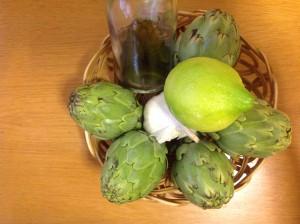 ingredientes alcachofas con jamón