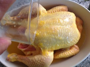 pollo asado con naranja