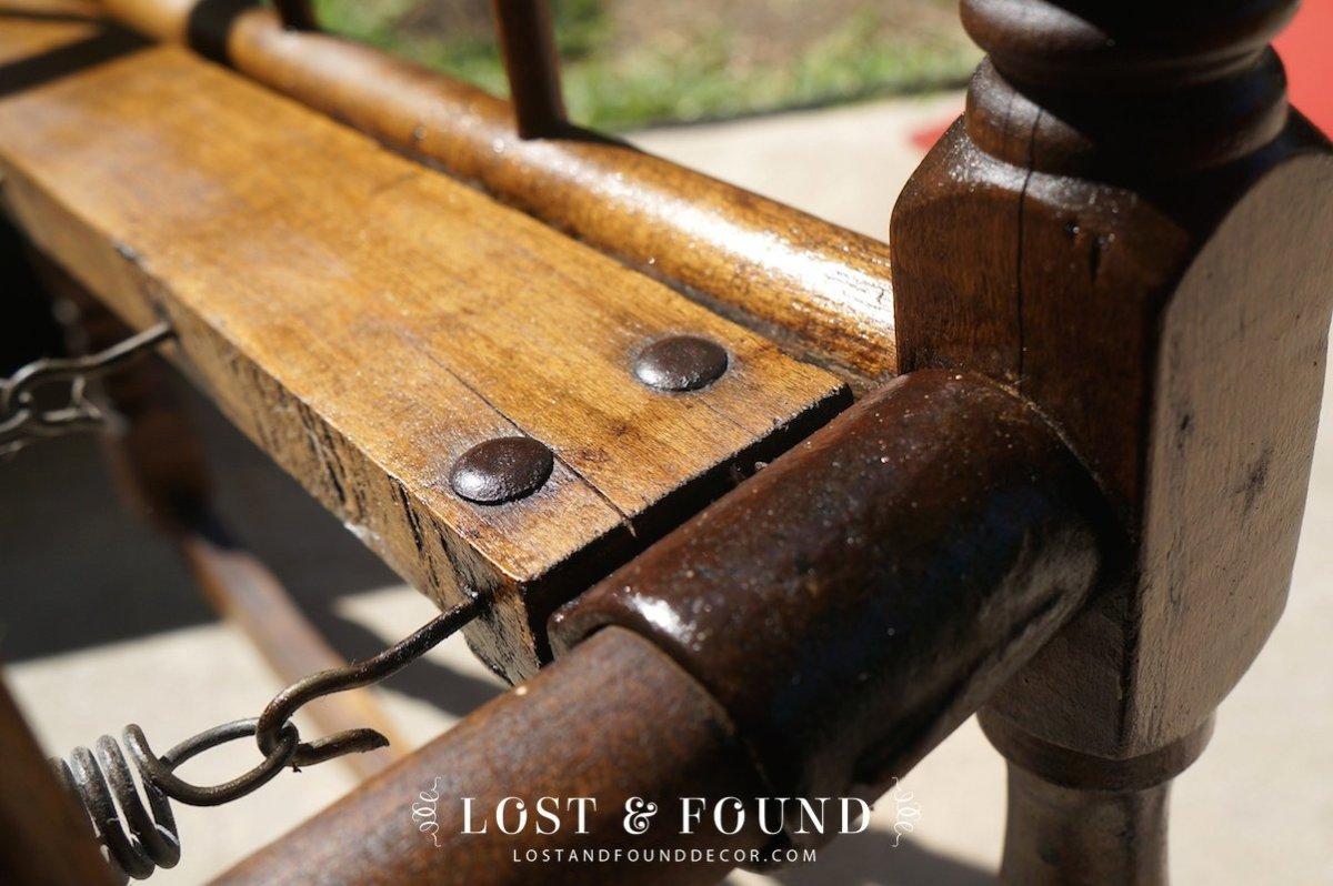 Restoring Old Wood with Vinegar - Antique Cradle