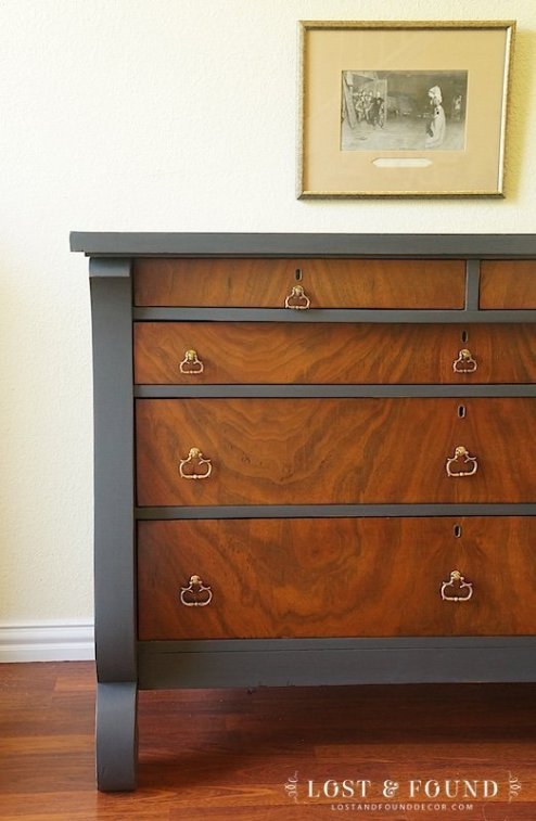 Ash dresser makeover from Lost and Found Decor