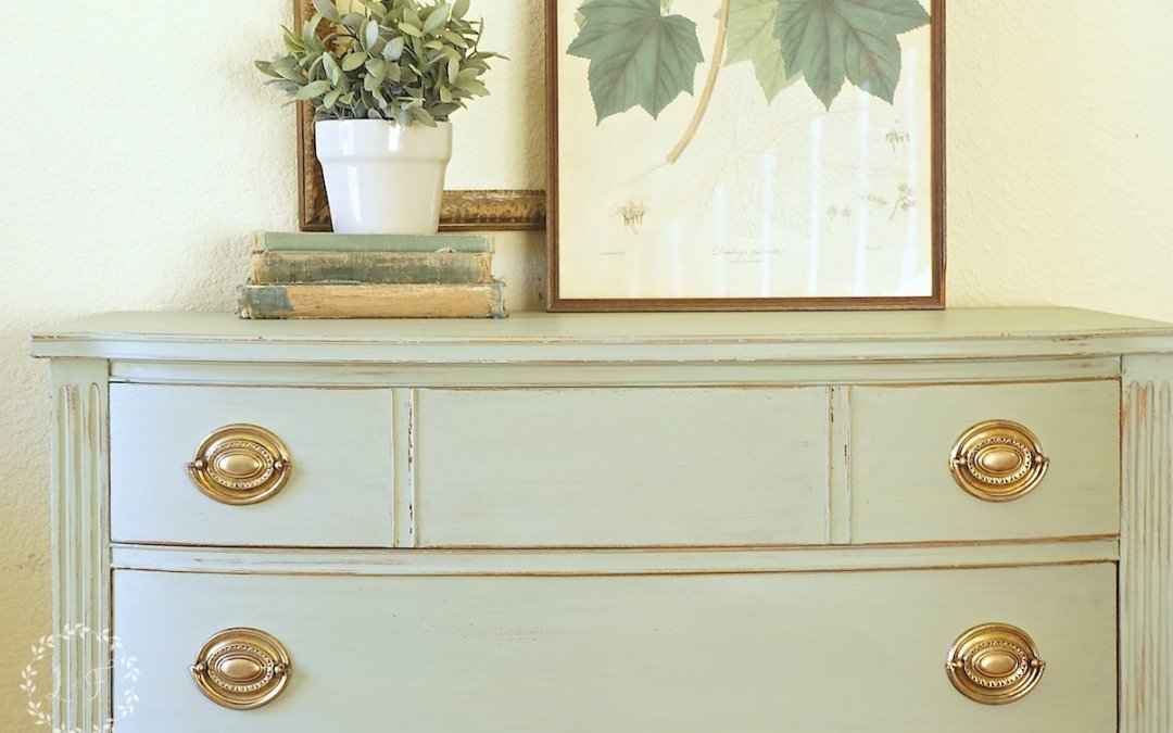 Milk Paint Chest of Drawers Makeover