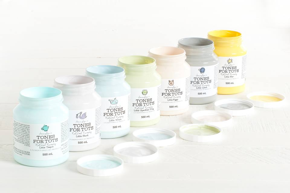 Brand New Fusion Mineral Paint Colors–Tones for Tots Collection